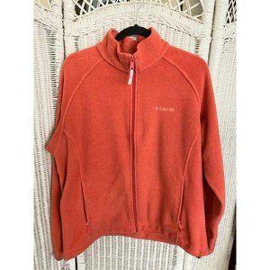 Womens Columbia Fleece Coral Zip Up Jacket SZ XL.